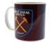 West Ham Utd Halftone Ceramic Coffee Mug (bst)